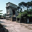 Titus Arch Commemorating Fall of Jerusalem 71 AD Rome Italy 19840719 0006 by Fred Mitchell