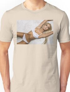 sexy nude erotic glamour blond girl model Unisex T-Shirt