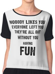 Green Day- Nobody Likes You Chiffon Top