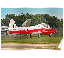 BAC Jet Provost T.5 XW324/U G-BWSG landing Poster
