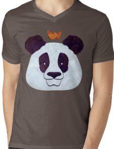 Hail Panda Mens V-Neck T-Shirt