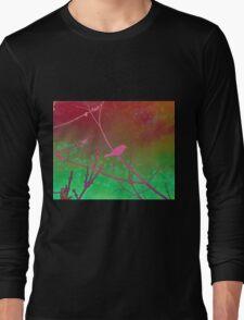 Bokeh Bird Long Sleeve T-Shirt