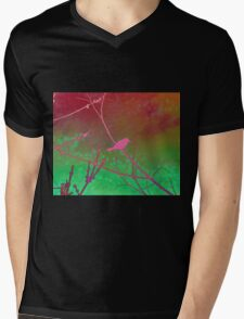Bokeh Bird Mens V-Neck T-Shirt