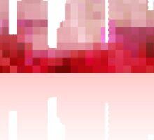 Red urban silhouette Sticker