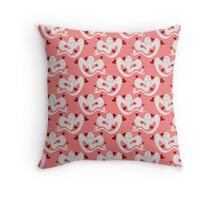 Love Ghost Pink Pattern Throw Pillow