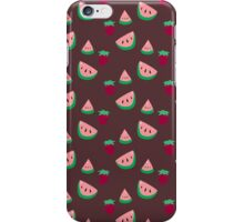 Strawberries and Watermelon Pattern iPhone Case/Skin