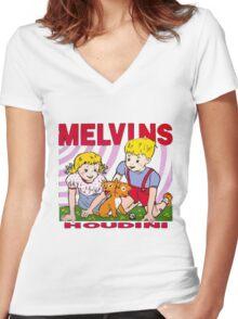 MELVINS - HOUDINI Women's Fitted V-Neck T-Shirt