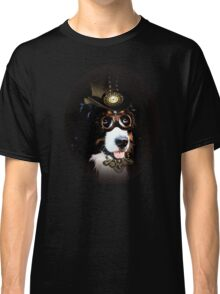 5.	Cheerful Steampunk Bernese Mountain Dog with Hat and Goggles Classic T-Shirt