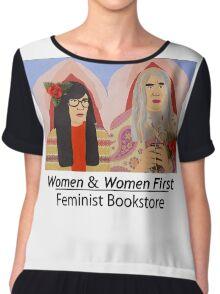 Women & Women First Feminist Bookstore Portlandia  Chiffon Top