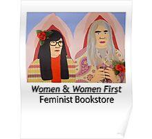 Women & Women First Feminist Bookstore Portlandia  Poster