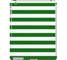 Green and White Hoops Banded Design iPad Case/Skin