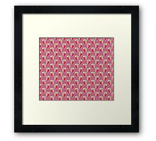 Pastel Strawberry Pink Pattern Framed Print