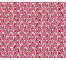 Pastel Strawberry Pink Pattern Photographic Print