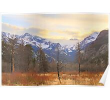 Rocky Mountain Wilderness Sunset View Poster