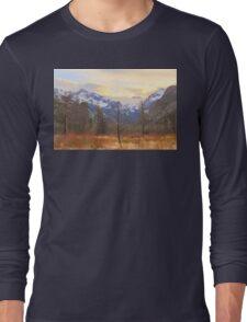 Rocky Mountain Wilderness Sunset View Long Sleeve T-Shirt