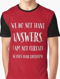 Questions & Answers Graphic T-Shirt