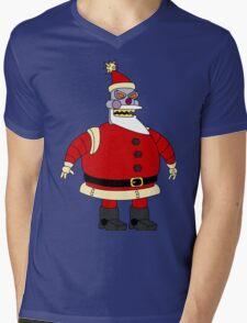 Bad Santa Mens V-Neck T-Shirt