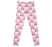 Heart Peach Pink Pattern Leggings