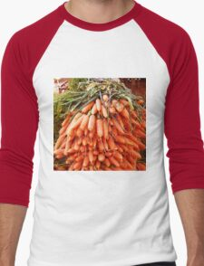 Carrots at the Market Men's Baseball ¾ T-Shirt