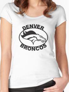 Denver Broncos Super Bowl Women's Fitted Scoop T-Shirt