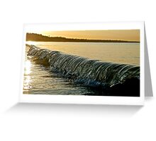 South-coast  Sunrise Swell Greeting Card
