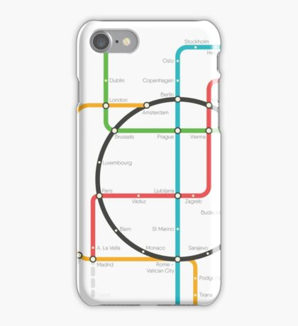 EUROPE UNDERGROUND iPhone Case/Skin