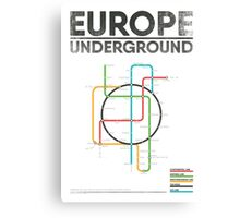EUROPE UNDERGROUND Canvas Print
