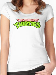 Teenage Mutant Ninja Thirties Women's Fitted Scoop T-Shirt