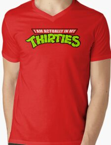 Teenage Mutant Ninja Thirties Mens V-Neck T-Shirt