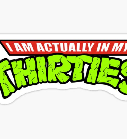 Teenage Mutant Ninja Thirties Sticker