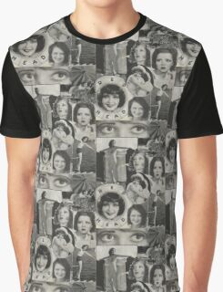 Clara Bow Original Collage Graphic T-Shirt
