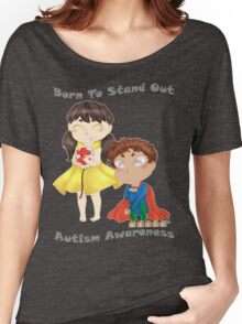 Autism Awareness: Born to Stand Out Women's Relaxed Fit T-Shirt