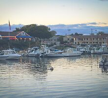 Falmouth Harbor at Dusk, Cape Cod by Elizabeth Thomas