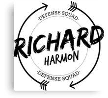 RICHARD HARMON DEFENSE SQUAD Canvas Print
