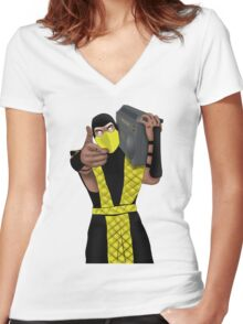 GET OVER HERE AND LISTEN TO THESE DOPE BEATS Women's Fitted V-Neck T-Shirt