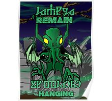 Remain Hanging Cthulhu- R'lyeh Background Poster