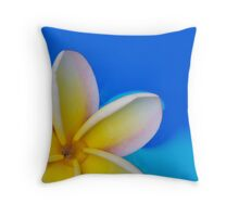 Floating Plumeria Petals Pillow & Clutch Throw Pillow