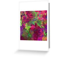 Fusion In Pink And Green Greeting Card