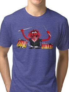 Animal Drummer Tri-blend T-Shirt