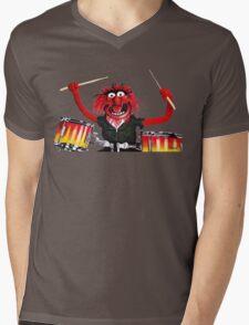 Animal Drummer Mens V-Neck T-Shirt