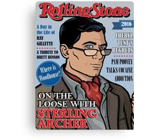 Sterling Archer is a Rolling Stone Canvas Print