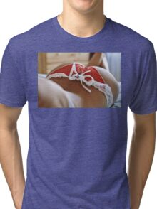 sexy nude erotic glamour girl model 4 Tri-blend T-Shirt