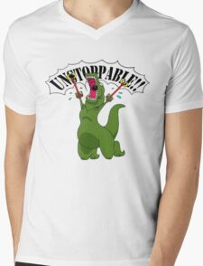 T-Rex With Robot Clamp Toy Mens V-Neck T-Shirt