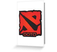 Dota 2 Orange. Greeting Card