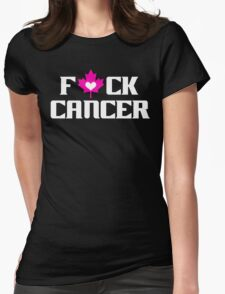 F*CK CANCER (black) Womens Fitted T-Shirt