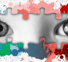 Eyes puzzle color Sticker