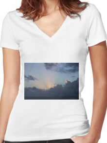 Sky Show 1 Women's Fitted V-Neck T-Shirt