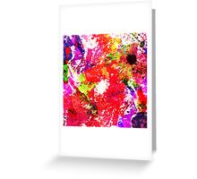 Expression Of Colour - Abstract In Rainbow Colours Greeting Card