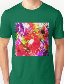 Expression Of Colour - Abstract In Rainbow Colours T-Shirt