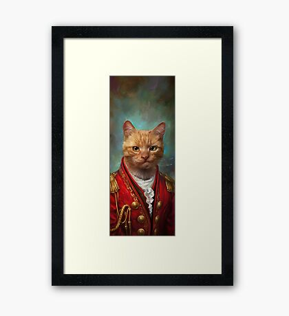 Court General Wise Cat  Framed Print